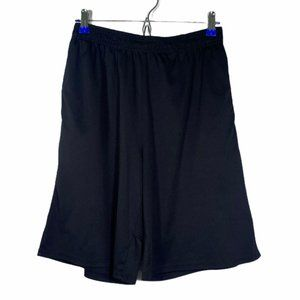 Grey Black Athletic Active Running Workout Shorts